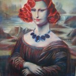 Mona Makeover Auburn Hair oils portrait